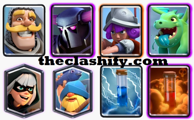 Baby Dragon Pekka Fisherman Deck Arena 10+