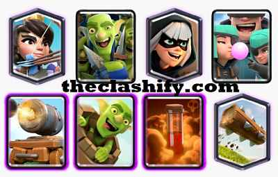 Rascals Goblin Barrel Deck Arena 10+ | Princess Goblin Barrel Deck 2019