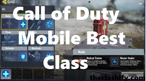 Call of Duty Mobile Best Class