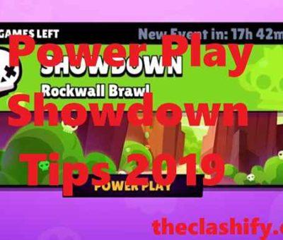 Power Play Showdown Tips 2019