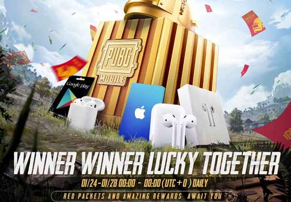 Pubg Mobile Red Packet Event Play & Win Google Play Gift Cards