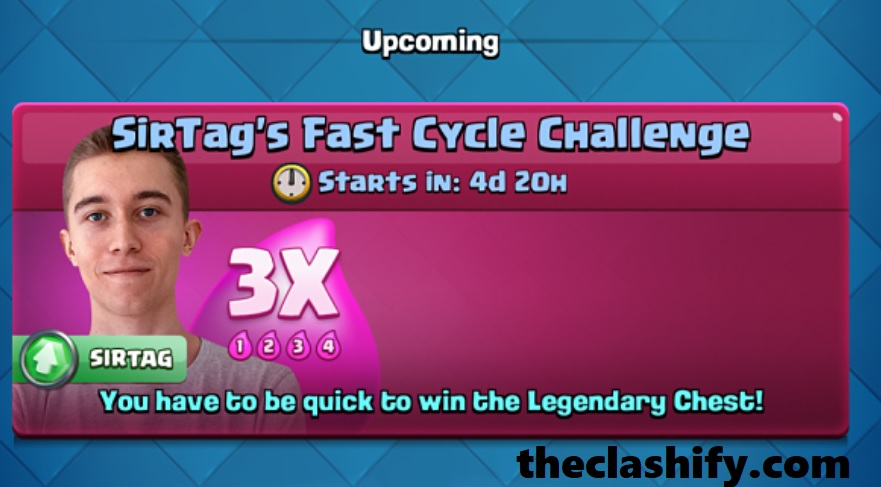 Clash Royale Triple Elixir SirTag Fast Cycle Challenge Deck