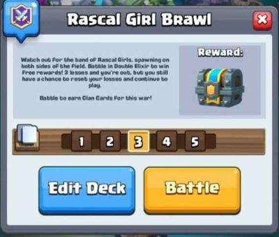 Top 17 Clash Royale Best Rascal Girls Brawl Deck ( New Challenge )