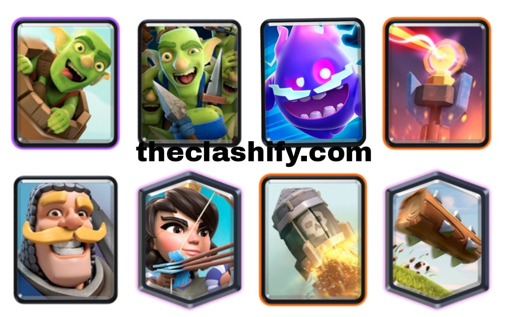 Clash Royale 2.9 Princess Goblin Barrel Electro Spirit Deck