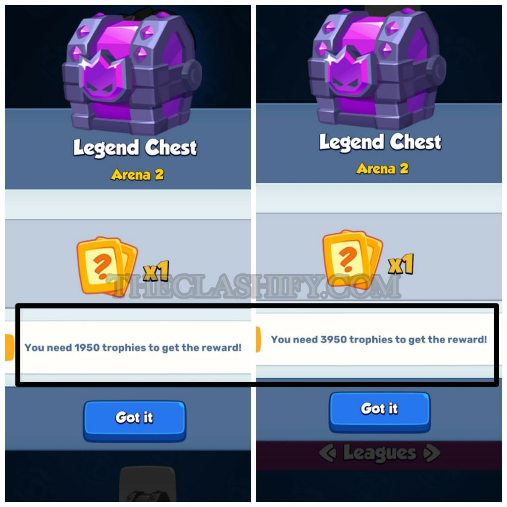 You can Get a Free Legendary Card from Legend Chest