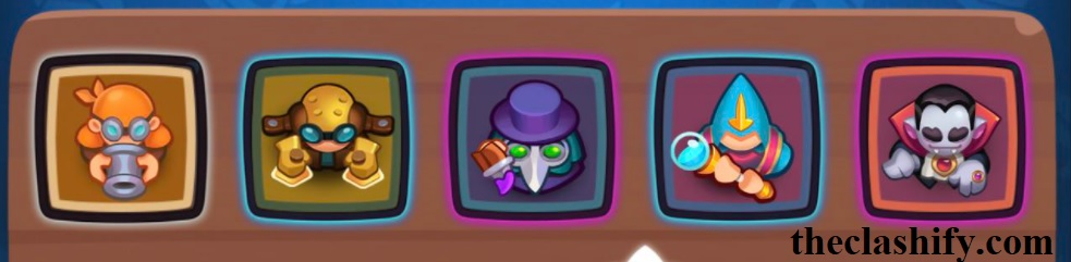 Rush Royale Vampire Plague Doctor Bombardier Deck Card Roles: