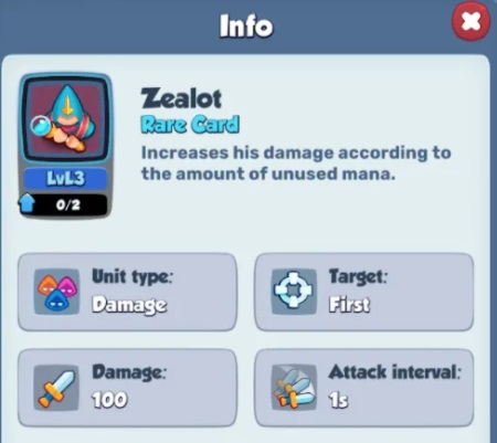 Rush Royale Zealot Damage & Rush Royale Zealot Decks