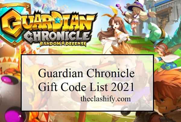 Guardian Chronicle Gift Code