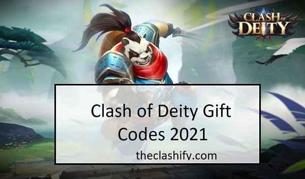 Clash of Deity Gift Codes 2021