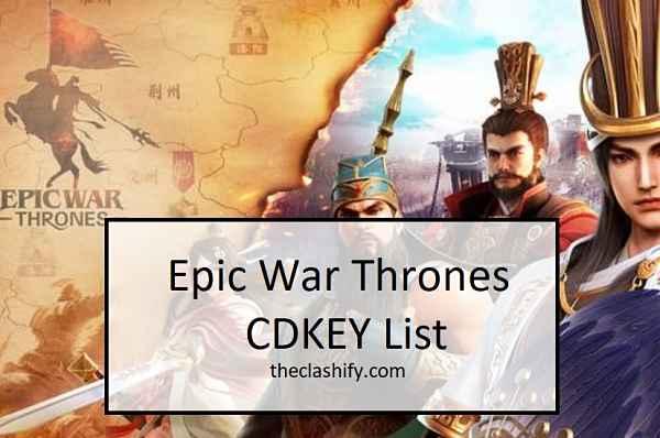 Epic War Thrones CDKEY
