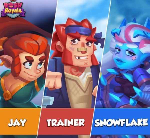 Rush Royale Heroes List