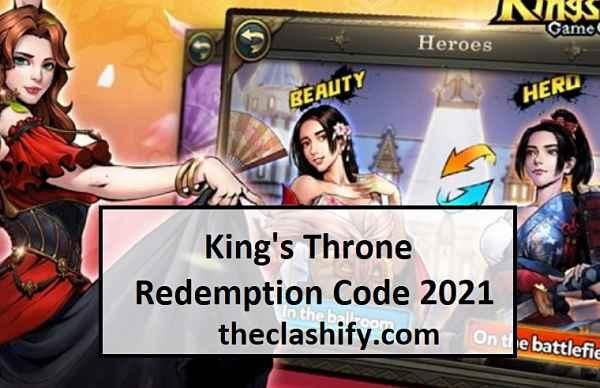 King's Throne Redemption Code 2021