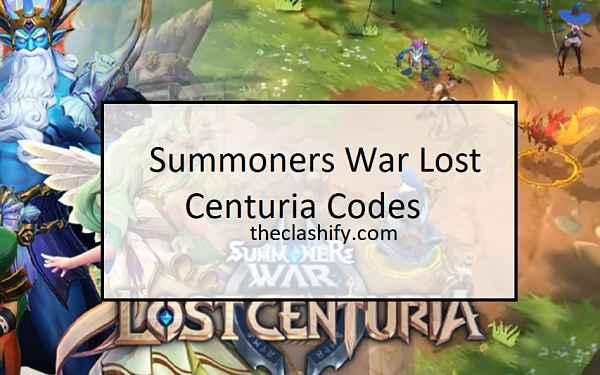 Summoners War Lost Centuria Codes