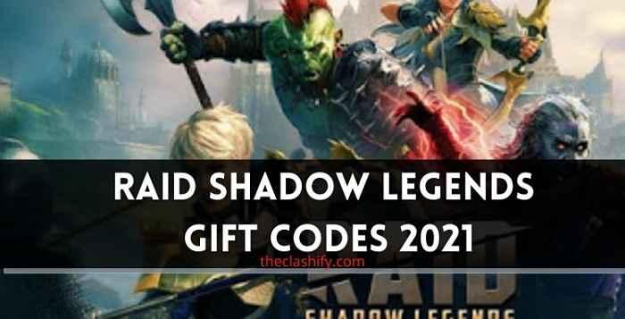Raid Shadow Legends Codes July 2021