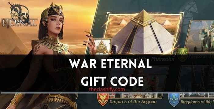 List of War Eternal Gift Code 2021 July