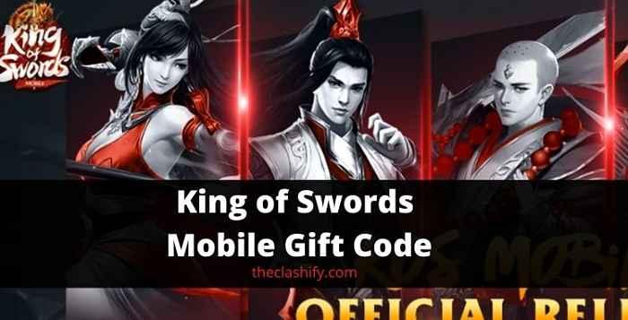 King of Swords Mobile Gift Code 2021 September