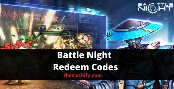 Battle Night Redeem Codes 2021 October ( New )