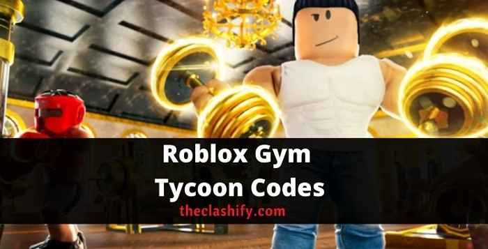 Roblox Gym Tycoon Codes 2021 October ( Working )