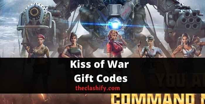 Kiss of War Gift Codes 2021 October